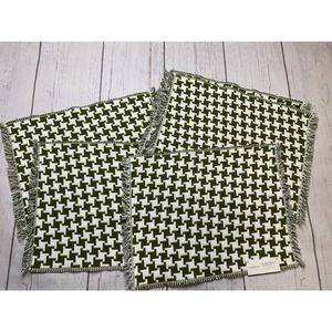 Threshold Placemats green white cotton dining